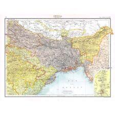 INDIA Bengal, Assam, Bhutan, Sikkim - Antique Map 1894 by Bartholomew