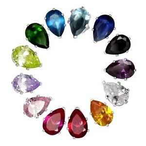 USA Seller Pear Stud Earrings Sterling Silver 925 Best Price Jewelry 8mmx5mm