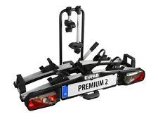 EUFAB Premium 2 faltbarer AHK Heckträger für 2 Fahrräder oder E-Bikes - 11521