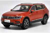 1/18 VW Volkswagen New Tiguan L 2017 Orange DieCast Car Model Toy Collection