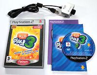 Sony PLAYSTATION 2 PS2 EYETOY PLAY 3 2005 Sony SCES-53315 + CAMERA USB SCEH-0004