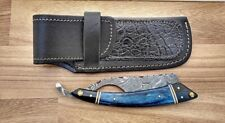 Custom Handmade Wet Shave/Barber/Salon Damascus Steel Straight Cut Throat Razor