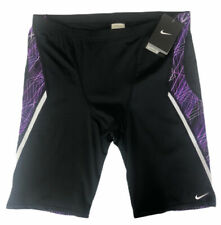 NIKE Mens Jammers Size 38 Swim Suit NESS5010 Black Purple NWT