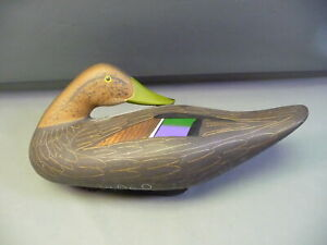 Joey Jobes Hand Painted Duck Decoy Signed & Dated 1993