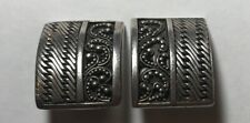 VINTAGE LOIS HILL STERLING SILVER .925 BALINESE INDONESIAN CLIP-ON EARRINGS