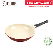 [ NEOFLAM ] ECOLON Coating Cube 26cm Fry Pan Deep Red Non-stick Natural Coating