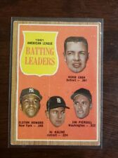 1962 Topps American League Batting Leaders Norm Cash/Al Kaline Card #51