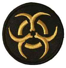 Bio Hazard Gold Symbol Embroidered Sew or Iron on Patch (A)
