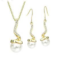 Set Necklace Pendant Earrings Crystals Swarovski Jewel Original Woman New