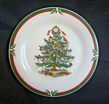 New Candleglow & Holly Porcelain Ware Home Decor Plate Christmas Tree Design