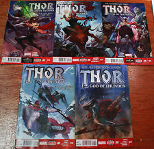 """THOR GOD OF THUNDER #13 - 17, """"The Accursed"""", All High Grade (Marvel Comics)"""