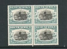 SOUTH AFRICA 5/- *** MINT *** BLOCK OF FOUR