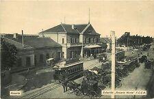 c1910 Postcard; North Station Rosario Norte Depot Argentine Central Railway