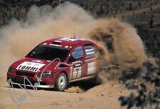 Tommi Makkinen SIGNED 12x8  Mitsubishi Lancer 6. WRC   Rally Australia  2000