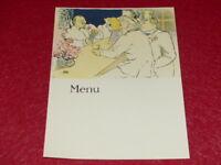 Menú / Illustration Toulouse Lautrec Hermoso Reimpresión Años 60 18x24 (26) BAR