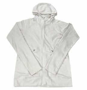 Lululemon Ventilate Jacket White Full Zip Hooded Size 8 Women's