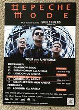 DEPECHE MODE TOUR OF THE UNIVERSE UK TOUR 2010 FLYER
