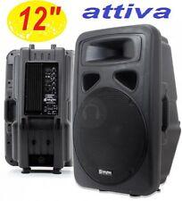 """CASSA ATTIVA AMPLIFICATA DIFFUSORE full-range 600W WOOFER 31 CM 12"""" 2 VIE"""