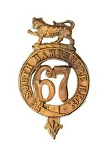 67th South Hampshire Glengarry Badge Brass Metal
