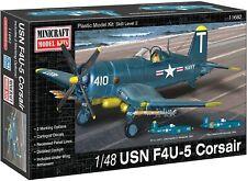 New USN F4U-5 Corsiar 1:48 Corsiar Model Airplane Kit Minicraft MODEL 11682