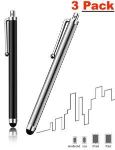 3x Eingabestift Touch Pen Touchscreen Stift Kugelschreiber für Handy Tablet NEU