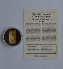 More details for malta 2000 5 lm lire silver coin millennium coin collection coa