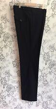 BURBERRY Established 1856 Mens Cotton Blend Black Slim Pants Sz 50 (32) EUC