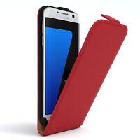 Tasche für Samsung Galaxy S7 Edge Flip Case Schutz Hülle Handy Cover Rot