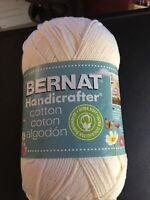 Yarn Bernat Handicrafter Cotton 14oz 710yd Worsted 4-ply 400gr White 1 Skein