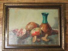 "VERY NICE - Lawacki / Signed Painting - Framed (21"" x 16"") Pomegranates"