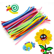 100pcs Chenille Stems Pipe Cleaners Sticks Kids DIY Handcraft Educational Toys