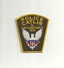 OLD STYLE CATLIN ILLINOIS POLICE PATCH