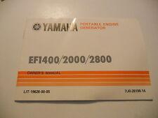 Yamaha Owners Manual Portable Generator EF1400 EF2000 EF2800 LIT-19626-00-05