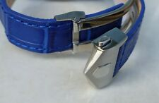 20mm BLUE COLOR for Tag Heuer Carrera Band Strap Alligator-Style with Clasp