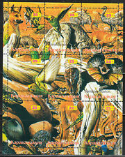 Souvenir sheet of 9 MNH stamps Dingo Birds Wild animals Kangaroo ,Parrot **
