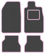 TVR Tasmin 85 85- Super Velour Dark Grey/Pink Trim Car mat set