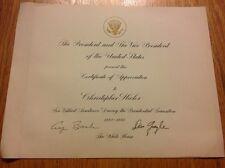 1988-1989 President George H.W. Bush & Dan Quayle Signed Autographed Certificate