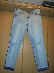 Destroyed-Jeans Skinny blau Gr. 42