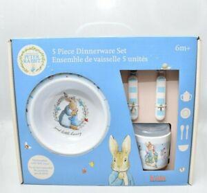 Beatrix Potter Peter Rabbit 5 Pc Dinnerware Dinner Set Baby Kids