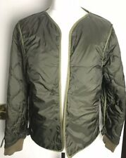 Mens Scotch & Soda Super Parka Green Camo Quilted Padded Lining Size Large
