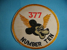 """WH PATCH US 377th MEDICAL Co.  NUMBER TEN AND MICKEY MOUSE WINGED """""""