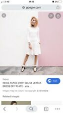 Reiss Agnes White Flounce Dress Size 12 BNWT