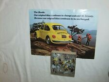 Volkswagon Vw Classic Cars Jigsaw Puzzle With Pamphlet Dealer Promo 1974 or 75