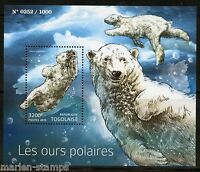 TOGO 2015 POLAR BEARS SOUVENIR  SHEET MINT NH