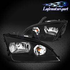2005 2006 2007 Ford Focus JDM Factory Style Black Replacement Headlights Pair