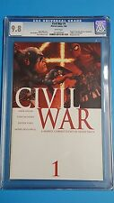 MARVEL CIVIL WAR #1 CGC UNIVERSAL GRADE 9.8 COMICS AVENGERS MOVIE MILLAR