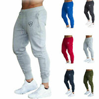 Mens Slim Tracksuit Sport Gym Skinny Jogging Joggers Trousers Sweat Pan G4G6