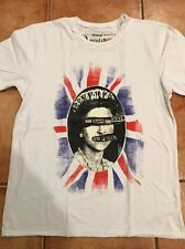 "Amplified Sex Pistols ""God Save The Queen"" White T shirt S,L,XL,XXL Vintage wash"