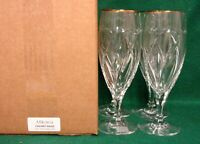 Mikasa CACHET GOLD Ice Tea Glasses SET of FOUR Mint in Box More Items Available