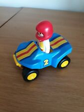Playmobil Racing Car And Driver blue number 2